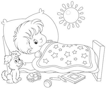 42+ Boy waking up clipart black and white ideas in 2021