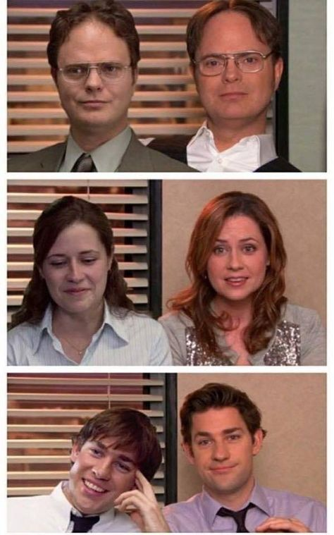 Then and now: Dwight, Pam, & Jim>>>>>> These are my favorite three people in the Office The Office Show, Office Tv, The Office Dwight, The Office Season 8, The Office Nbc, Office Cast, Office Ladies, Best Tv Shows, Best Shows Ever