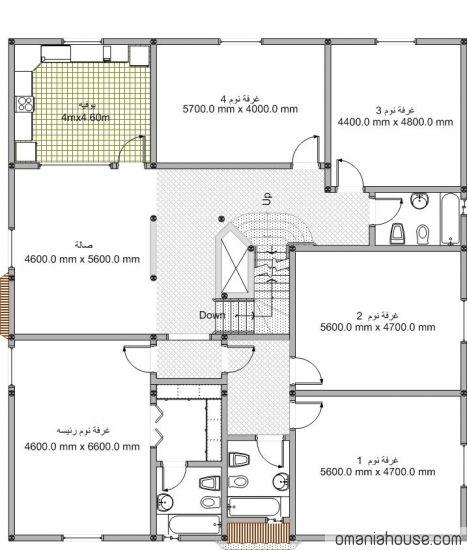 خرائط منازل وديكورات منازل سبلة عمان Duplex House Design House Design Villa Plan