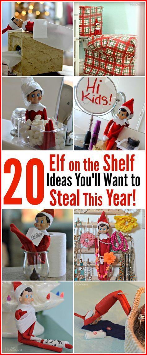 20 Genius And Easy Elf On The Shelf Ideas To Steal This Christmas Elf On The Shelf Elf Christmas Elf