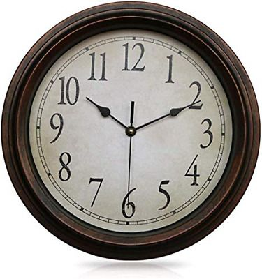 Details About Openbox 12 5 Inch Wall Clock Silent Non Ticking Round Classic Clock Retro Qua In 2020 Wall Clock Silent Classic Clocks Wall Clock