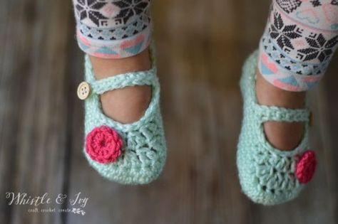 Toddler Little Dot Mary Janes Slippers Crochet Pinterest Free