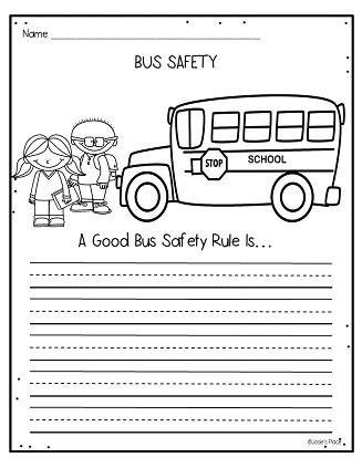 Hopping from K to 2!: Bus Safety Activities … | School Bus saftey ...