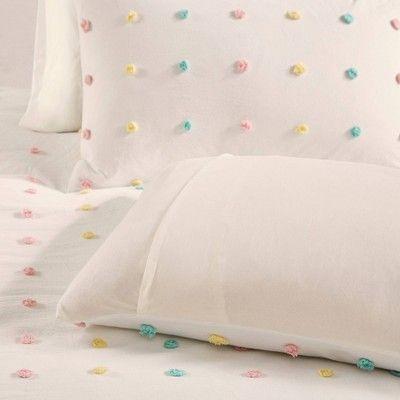 Twin Twin Extra Long Kelsey Cotton Pom Pom Comforter Set Beige