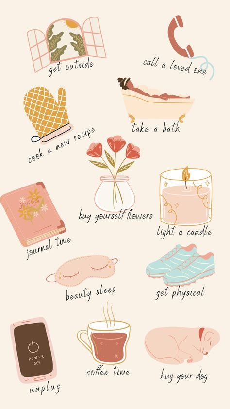 It's so important to take care of yourself! Take a few minutes today and do one of these self-care acts just for you!