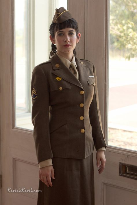 ZiZi wearing the WWII WAAC uniform ... it was hard for me to choose the best from this set!
