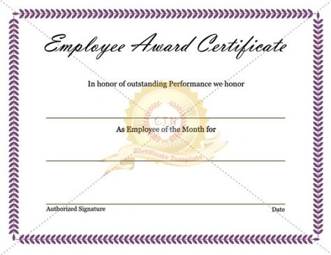 free printable student of the month certificate templates - Ender ...