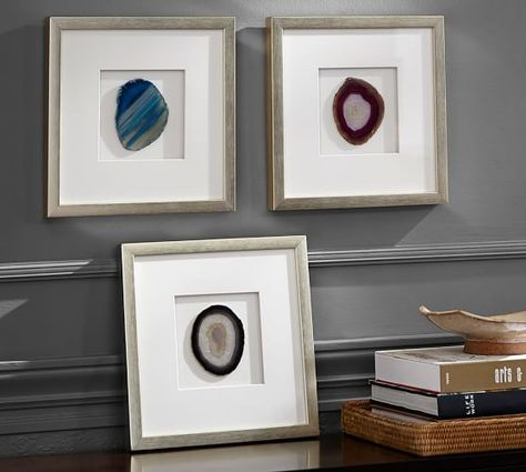 Framed Agate Shadowbox | Pottery Barn; *IF you like these, Steinhart has same thing for $59 each.