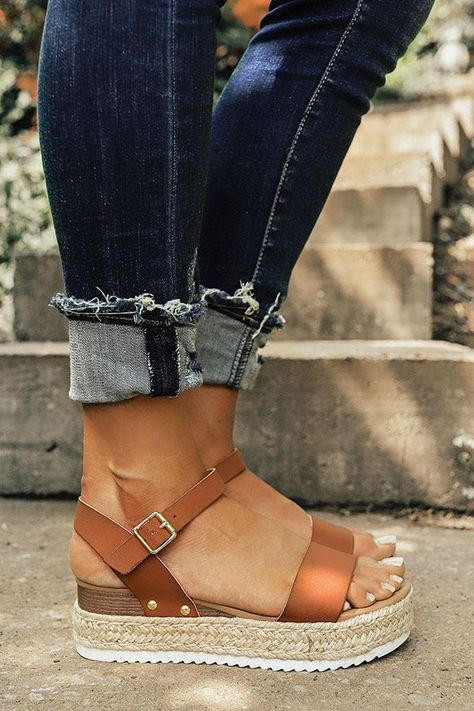 The Kaylee Espadrille in Brown - Gucci Espadrilles - Ideas of Gucci Espadrilles - The Kaylee Espadrille in Brown Impressions Online Boutique Cute Shoes, Me Too Shoes, Daily Shoes, Wedge Shoes, Shoes Heels, High Heels, Flats, Vans Shoes, Dsw Shoes