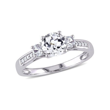 Jewelry Three Stone Engagement Rings Gold Engagement Rings White Gold Rings