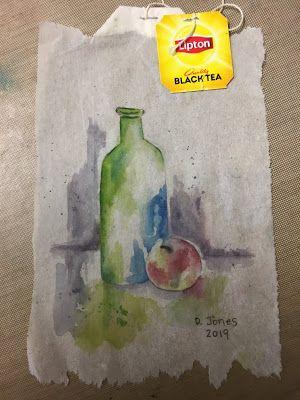 Dkjones Fledgling Artist My Teabag Art For Today Was A Still Life