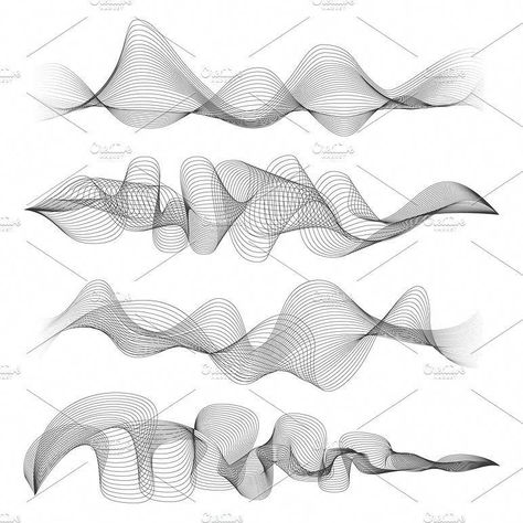 Abstract Sound Waves Digital Background Music Soundwave Designstwo Sound Waves Abstract Waves