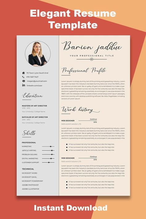resume template, resume, resume example, free resume template, resume template word,