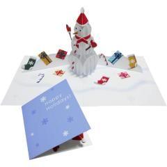 Uitvouwkaart Kerst Teddybeer 02 Kerstmis Uitvouwkaarten Kaart Canon Creative Park Christmas Card Crafts Halloween Pop Up Cards Pop Up Cards