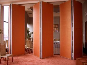 Aluminium Folding Partition Acoustic Movable Wall For Hotel
