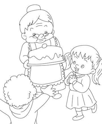 30 Desenhos Do Dia Dos Avos Ou Dia Da Vovo Para Colorir Pintar