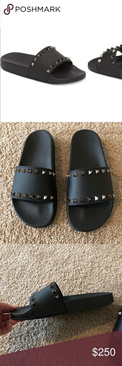 New Valentino Rockstud Slide Sandal Size 38 Brand New And Beautiful Rockstud Slides Fits A 71 2 Valentino Garavani Shoes S Valentino Rockstud Valentino Sandals