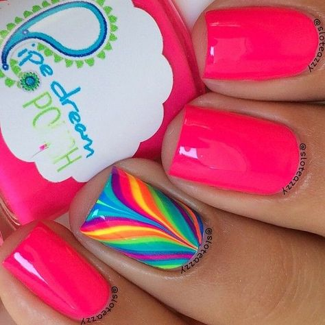 Combinacin De Uas Decoradas En Agua Nail Design In Water
