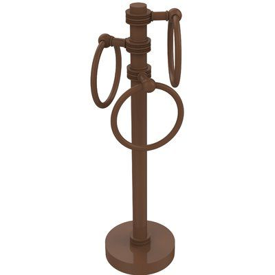 Allied Brass 3 Swing Ring Countertop Towel Stand Finish Antique