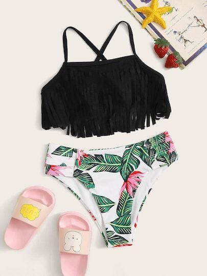 Ropa De Ninas Shein Es Moda Ropa De Playa Trajes De Bikini