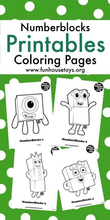 Numberblocks Printable Printables Free Kids Kids Printable Coloring Pages Coloring Pages