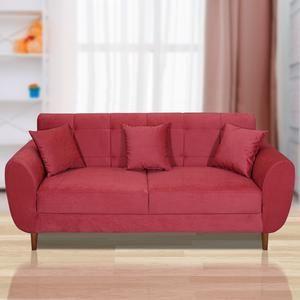 Buy Jespar Fabric 3 Seater Sofa In Dark Pink Color By Woodyfy Online Evok 3 Seater Sofa Sofa Sofa Furniture