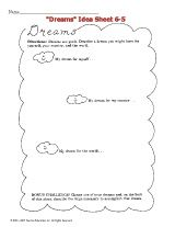 """This printable asks children to think about their dreams and those of the other students, and then analyze them. It's a great activity to enjoy when studying Dr. Martin Luther King Jr.'s """"I Have a Dream"""" speech, as well as Black History Month."""
