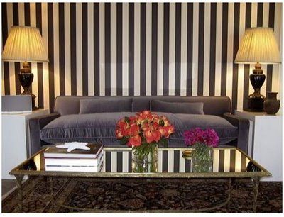 Interior Design Awesome Wallpaper Decor Wall Room Home Decorations Striped Stripe Decorating Ideas Wallpapers House Contemporary Black White