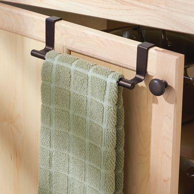 Metal Over Cabinet Door Towel Bar For Kitchen Pack Of 2 In 2020