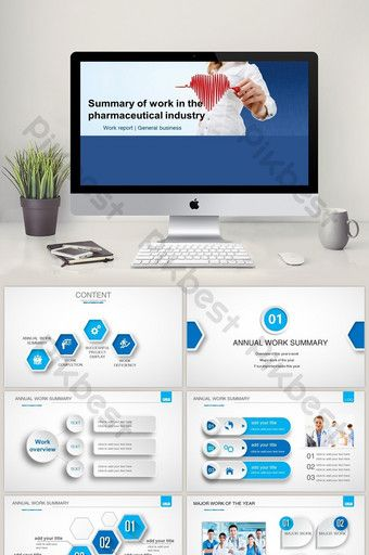 Medical And Pharmaceutical Industry Work Summary Ppt Template Powerpoint Pptx Free Download Pikbest Powerpoint Ppt Template Project Timeline Template