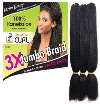 Urban Beauty 3x Jumbo Kanekalon Braid Hair Kanekalon Braiding