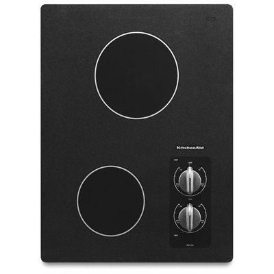 Kitchenaid Kecc056rbl 15 In 2 Element Smooth Surface Electric Cooktop Electric Cooktop Kitchen Aid Kitchen Aid Appliances