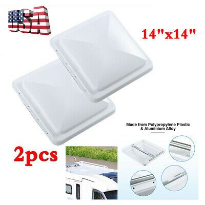 2pcs 14 X14 White Rv Camper Trailer Motorhome Roof Vent Cover Lid Replacement In 2020 Roof Vent Covers Vent Covers Camper Trailers