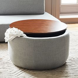 Stacked Disk Storage Coffee Table Dark Mineral Salt In 2020