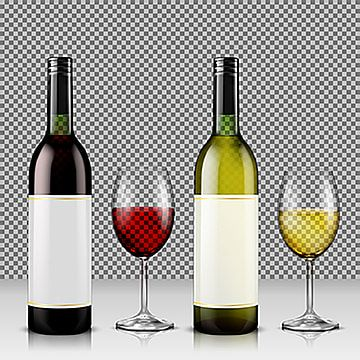 Set Of Realistic Vector Illustration Of Glass Wine Bottles And G Champagne Clipart Wine Bottle Png And Vector With Transparent Background For Free Download Wine Bottle Wine Bottle