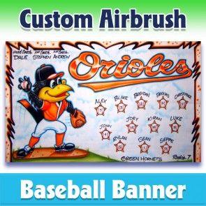 Baseball Banner Orioles 1009 In 2020 Baseball Banner Team Banner Baseball Team Banner