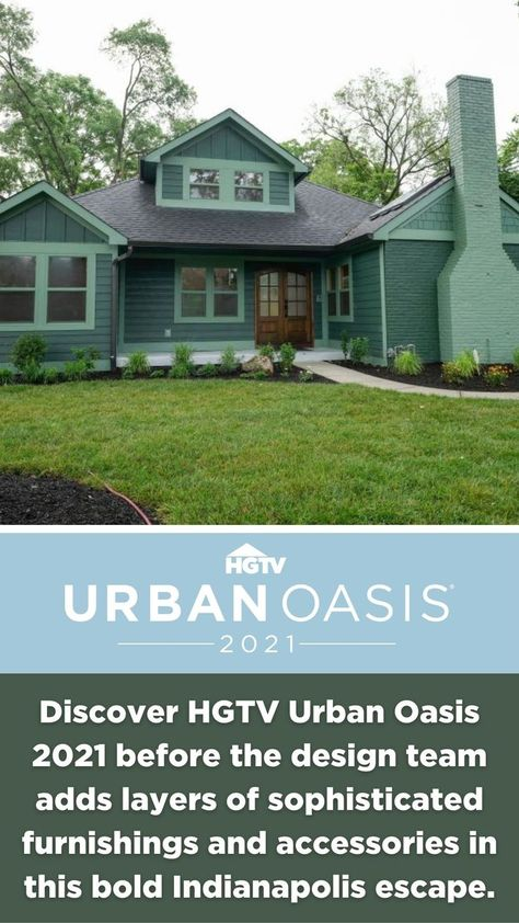 This amazing renovation goes from dreary and dated to bold and beautiful. 😍 Discover HGTV Urban Oasis 2021 before the design team adds layers of sophisticated furnishings and accessories in this bold Indianapolis escape.