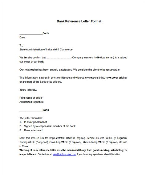 bank reference letter templates free sample example format every - customer reference letter
