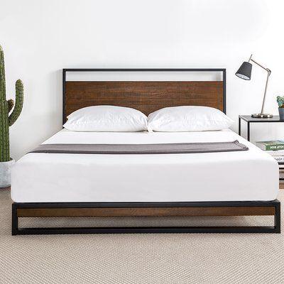 Zipcode Design Pauletta Low Profile Platform Bed Wayfair In 2020 Modern Bed Bedroom Furniture Bed Frame
