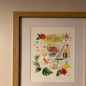 Pizza Recipe Print Food Poster Kitchen Art Italy Wall Art Etsy Colorful Kitchen Art Watercolor Paintings Italy Wall Art