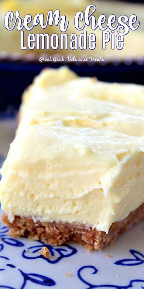 Cream Cheese Lemonade Pie is super creamy, deliciously lemony and tart, and is an easy, no-bake dessert recipe everyone loves.