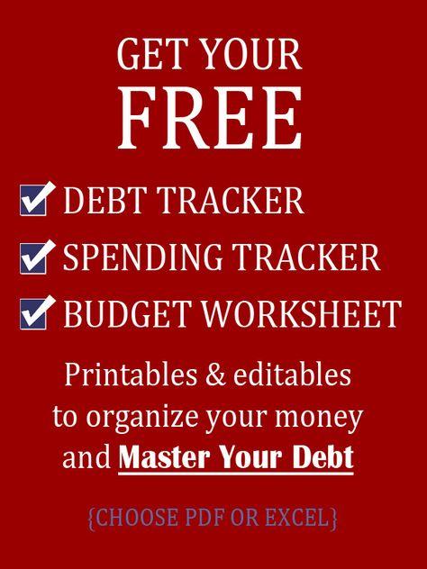 list of pinterest debt tracker excel monthly budget images debt