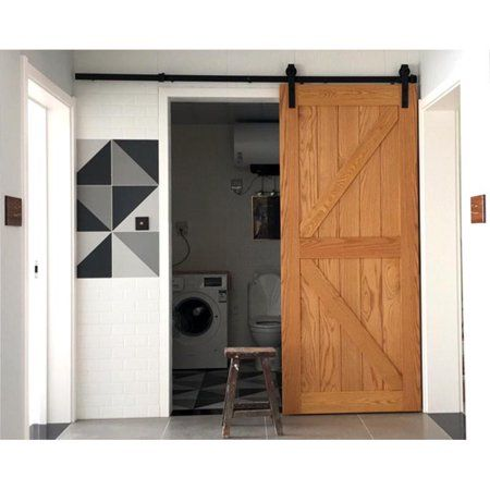 Black J Shape Hangers U-MAX Sliding Barn Door Hardware Hangers 2pcs