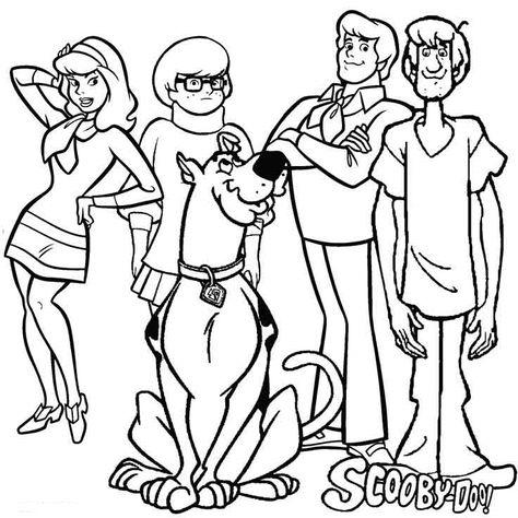Dibujos De Scooby Doo Para Colorear E Imprimir Desenhos Para
