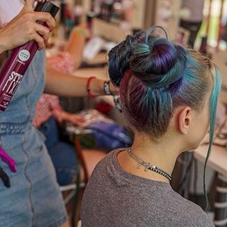 Sneak Peak From Hair Styling Process In Matrix Zone On The Biggest Music Festival In Russia Matrixhair Matrix Styleli Hair Styles Big Music Matrix Hair