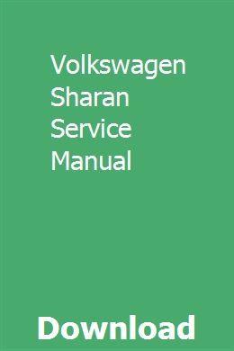Volkswagen Sharan Service Manual Nissan Maxima Repair Manuals Nissan
