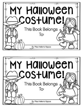 "Enjoy this FREEBIE from Miss Hellen's Hippos, and thank you greatly for taking a moment to rate me! This fun ""My Halloween Costume"" emergent reade. Teacher Halloween Costumes, Hallowen Costume, Halloween Activities, Holiday Activities, Happy Halloween, Speech Activities, Hallowen Ideas, Descriptive Words, Fall Preschool"