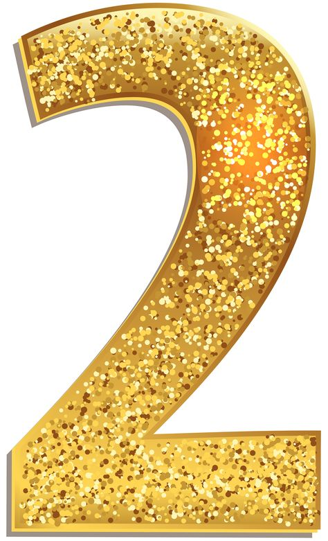 Number Two Gold Shining PNG Clip Art Image | Gallery Yopriceville - High-Quality Images and Transparent PNG Free Clipart