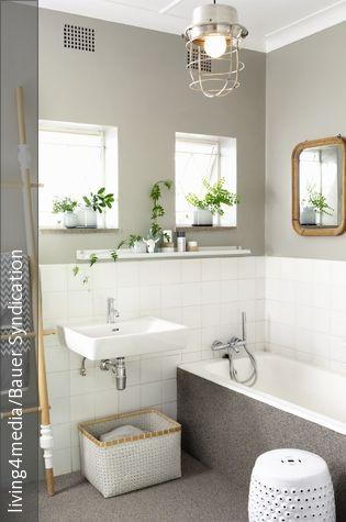 103 best Bad images on Pinterest Bathroom, Half bathrooms and - wandfarbe schlafzimmer weisse möbel
