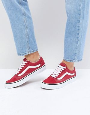 Vans - Old Skool - Baskets - Rouge | Vans old skool ...